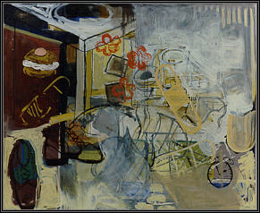 "Still life. 48"" x 59"" (122 x 149 cm). Oil on hardboard. 1997."